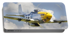 P51 Ferocious Frankie Portable Battery Charger by Pat Speirs