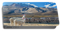 Pair Of Llamas Portable Battery Charger by Jess Kraft