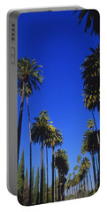 Palm Trees Along A Road, Beverly Hills Portable Battery Charger by Panoramic Images
