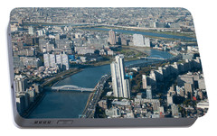 Panorama Of Tokyo Portable Battery Charger by Jill Mitchell