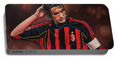 Paolo Maldini Portable Battery Charger by Paul Meijering