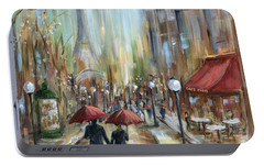 Paris Lovers Ill Portable Battery Charger by Marilyn Dunlap