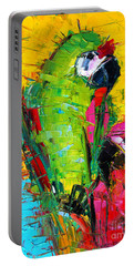 Parrot Lovers Portable Battery Charger by Mona Edulesco