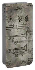 Patent Art Trombone Portable Battery Charger by Dan Sproul