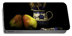 Pears And Paints Still Life Portable Battery Charger by Jon Woodhams