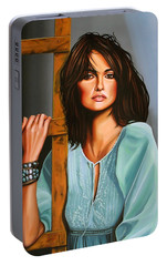 Penelope Cruz Portable Battery Charger by Paul Meijering