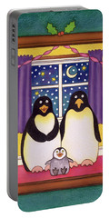 Penguin Family Christmas Portable Battery Charger by Cathy Baxter