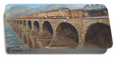 Pennsylvania Railroad On The Rockville Bridge Portable Battery Charger by Christopher Jenkins