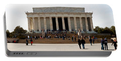People At Lincoln Memorial, The Mall Portable Battery Charger by Panoramic Images