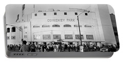 People Outside A Baseball Park, Old Portable Battery Charger by Panoramic Images