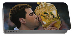 Pete Sampras Portable Battery Charger by Paul Meijering