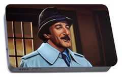 Peter Sellers As Inspector Clouseau  Portable Battery Charger by Paul Meijering