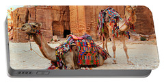 Petra Camels Portable Battery Charger by Stephen Stookey