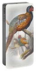Phasianus Elegans Elegant Pheasant Portable Battery Charger by Daniel Girard Elliot
