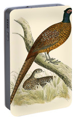 Pheasant Portable Battery Charger by Beverley R Morris