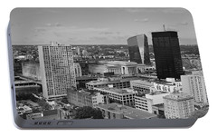 Philadelphia - A View Across The Schuylkill River Portable Battery Charger by Rona Black