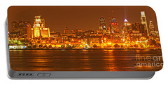 Philadelphia Across The Delaware Portable Battery Charger by Adam Jewell