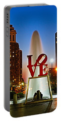 Philadelphia Love Park Portable Battery Charger by Nick Zelinsky