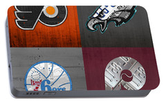 Philadelphia Sports Fan Recycled Vintage Pennsylvania License Plate Art Flyers Eagles 76ers Phillies Portable Battery Charger by Design Turnpike
