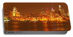 Philadelphia Ultra Wide Panorama Portable Battery Charger by Adam Jewell