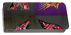 Phoenix Sports Fan Recycled Vintage Arizona License Plate Art Diamondbacks Suns Coyotes Cardinals Portable Battery Charger by Design Turnpike