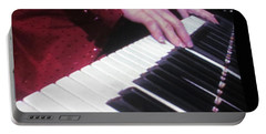 Piano Man At Work Portable Battery Charger by Aaron Martens