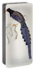 Pica Erythrorhyncha, From A Century Of Birds From The Himalaya Mountains Portable Battery Charger by Elizabeth Gould
