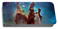 Pillars Of Creation In High Definition - Eagle Nebula Portable Battery Charger by Jennifer Rondinelli Reilly - Fine Art Photography