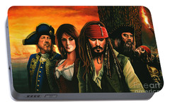 Pirates Of The Caribbean  Portable Battery Charger by Paul Meijering