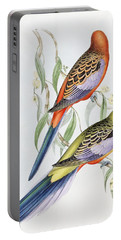 Platycercus Adelaidae From The Birds Of Australia Portable Battery Charger by John Gould