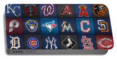 Play Ball Recycled Vintage Baseball Team Logo License Plate Art Portable Battery Charger by Design Turnpike