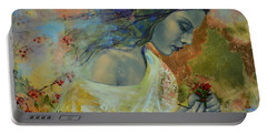 Poem At Twilight Portable Battery Charger by Dorina  Costras