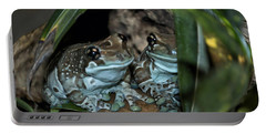Poisonous Frogs With Sticky Feet Portable Battery Charger by Thomas Woolworth