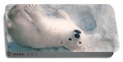 Polar Bear Cub Portable Battery Charger by Mark Newman