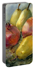 Pomegranates And Pears Portable Battery Charger by Jen Norton