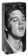 Portrait Of Elvis Presley Portable Battery Charger by Underwood Archives