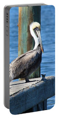 Posing Pelican Portable Battery Charger by Carol Groenen