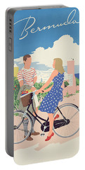 Poster Advertising Bermuda Portable Battery Charger by Adolph Treidler
