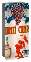 Poster Advertising Chianti Campani Portable Battery Charger by Necchi