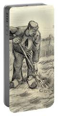 Potato Gatherer Portable Battery Charger by Vincent Van Gogh