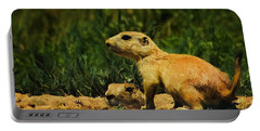 Prairie Dogs On Patrol Portable Battery Charger by Priscilla Burgers