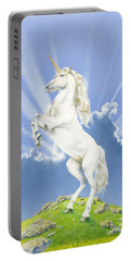 Prancing Unicorn Portable Battery Charger by Irvine Peacock