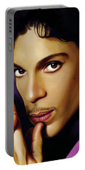 Prince Artwork Portable Battery Charger by Sheraz A
