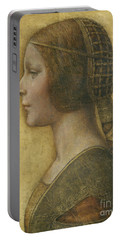 Profile Of A Young Fiancee Portable Battery Charger by Leonardo Da Vinci