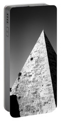 Pyramid Of Cestius Portable Battery Charger by Fabrizio Troiani
