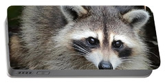 Raccoon Eyes Portable Battery Charger by Carol Groenen