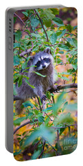 Raccoon Portable Battery Charger by Inge Johnsson