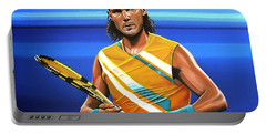 Rafael Nadal Portable Battery Charger by Paul Meijering