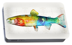Rainbow Trout Art By Sharon Cummings Portable Battery Charger by Sharon Cummings