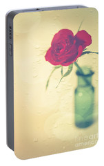 Raindrops On Roses . . . Portable Battery Charger by Jan Bickerton